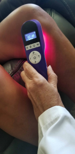 Knee pain? That is a popular place to use the red light.