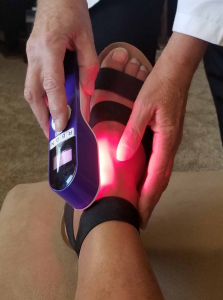 Red Light improves circulation and decreases pain.